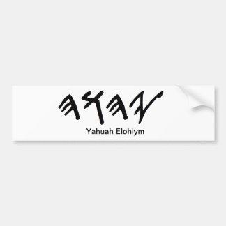 Bumper Stick Paleo Hebrew Father Yahuah Bumper Sticker