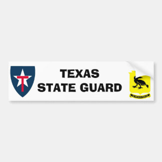 Bumper Sticker 8th brigade TEXAS STATE GUARD
