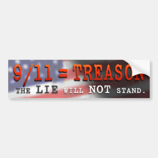 BUMPER STICKER – 9/11 = TREASON
