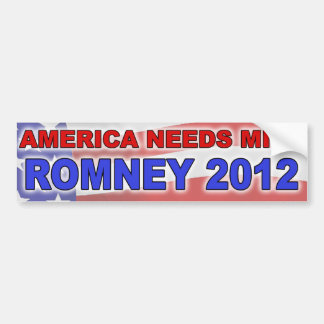Bumper Sticker - America Needs Mitt (Flag)