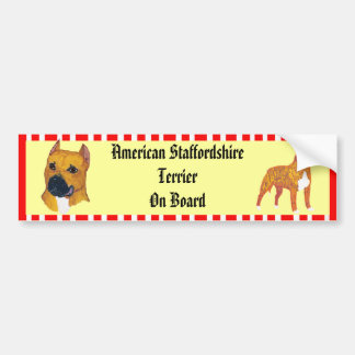Bumper Sticker - American Staffordshire Terrier Car Bumper Sticker