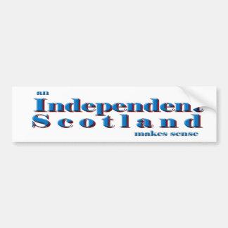 Bumper sticker An independent Scotland makes sense Car Bumper Sticker