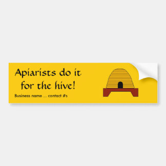 Bumper Sticker - Apiarists do itf or the hive