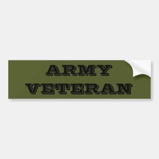 Bumper Sticker Army Veteran Car Bumper Sticker