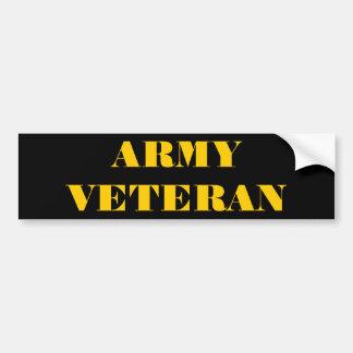Bumper Sticker Army Veteran