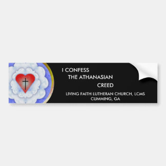 Bumper Sticker - Athanasian Car Bumper Sticker