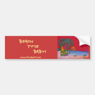 Bumper sticker -bEACH tIME                 ...