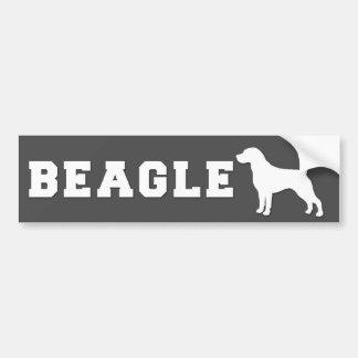 Bumper sticker Beagle - Grey