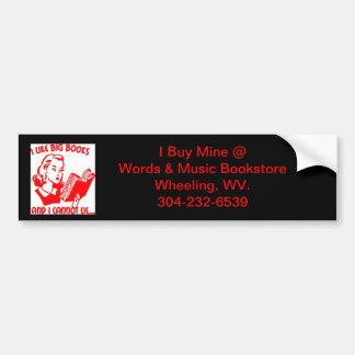 bumper sticker books bookstore wheeling wv. car bumper sticker