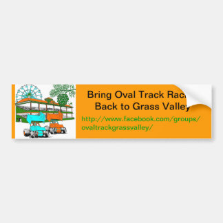 Bumper Sticker, Bring Oval Track Racing to GV