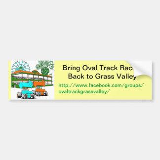 Bumper Sticker, Bring Oval Track Racing to GV Bumper Sticker