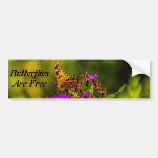 Bumper Sticker - Butterflies Are Free Car Bumper Sticker