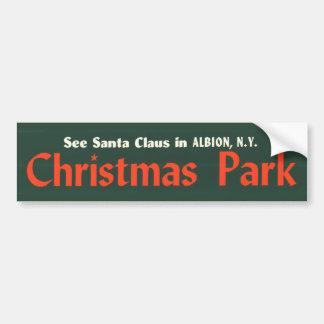 bumper-sticker---christmas-park bumper sticker