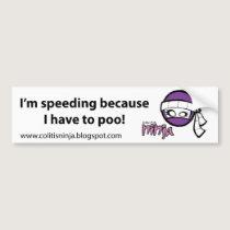 Bumper Sticker (Colitis & Crohn's)