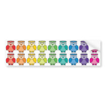 Bumper Sticker - Cute Rainbow Owl Pattern