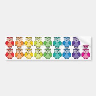 Bumper Sticker - Cute Rainbow Owl Pattern Car Bumper Sticker