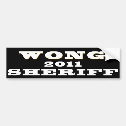 Bumper Sticker - David Wong for Sheriff B/W Car Bumper Sticker