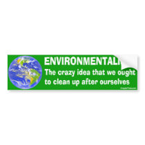 Bumper Sticker Definition of Environmentalism