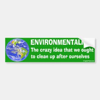 Bumper Sticker Definition of Environmentalism Car Bumper Sticker
