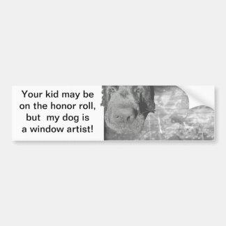 Bumper Sticker Dog window artist