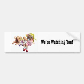 Bumper Sticker - Dollies -  We're Watching You!