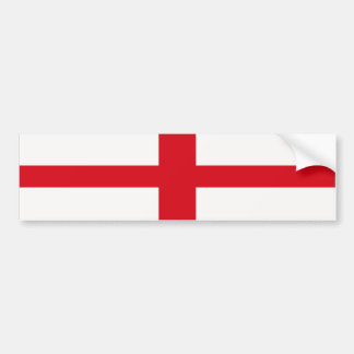 Bumper Sticker England St. George Cross Flag