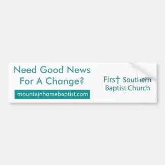 Bumper Sticker - First Southern Baptist Church Car Bumper Sticker