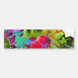 Bumper Sticker Floral Abstract Artwork