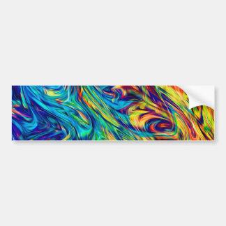 Bumper Sticker Fluid Colors