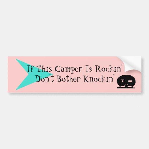 Bumper Sticker Fun Vintage Camper TT Humor Car Bumper Sticker