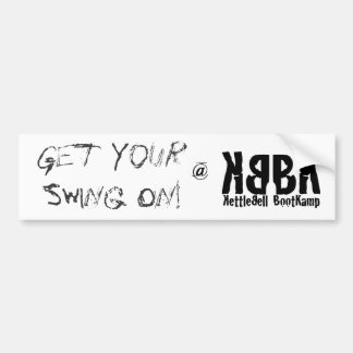 Bumper Sticker - Get Your Swing On!
