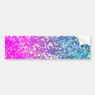 Bumper Sticker Glitter Graphic Background Car Bumper Sticker