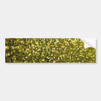 Bumper Sticker Gold Mosaic Sparkley Texture