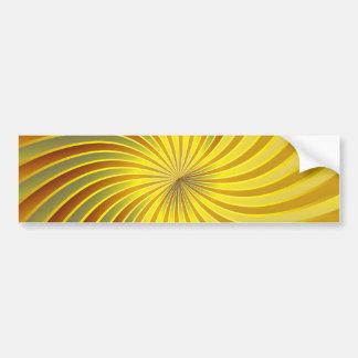 Bumper Sticker gold spiral vortex