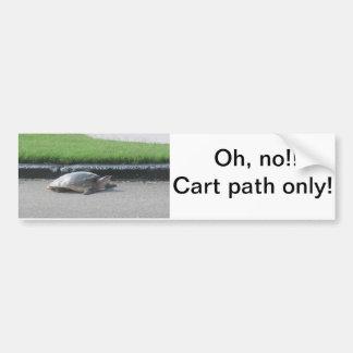 Bumper sticker/ Golf Carts,golfers' cars, funny, Bumper Sticker