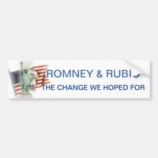 Bumper Sticker GOP Election 2012 Romney and Rubio