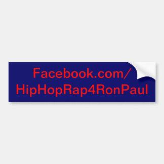 Bumper Sticker - Hiphoprap4ronpaul