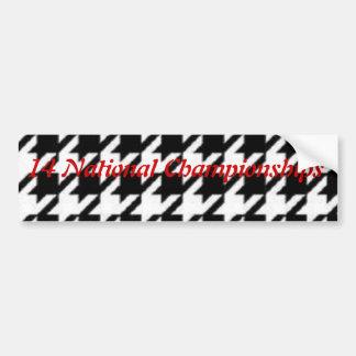Bumper Sticker Houndstooth
