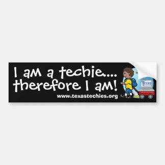 Bumper Sticker - I am a techie Car Bumper Sticker