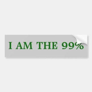 Bumper sticker: I am the 99% Car Bumper Sticker