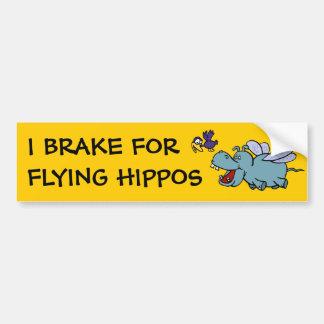 Bumper Sticker:  I Break for Flying Hippos