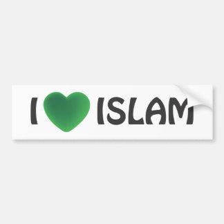 Bumper sticker - I love Islam