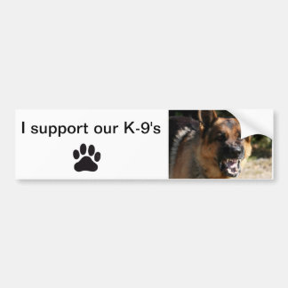 Bumper sticker I support our K-9 s