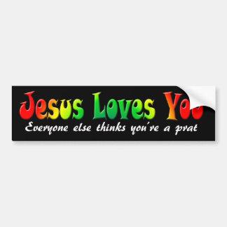 Bumper Sticker Jesus Loves You Car Bumper Sticker