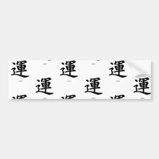 Bumper Sticker KANJI SYMBOL FOR LUCK