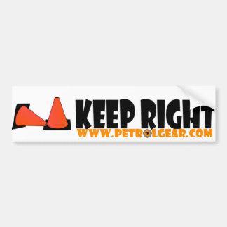 Bumper Sticker: Keep Right