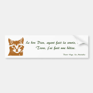 Bumper Sticker: Le Chat Bumper Sticker
