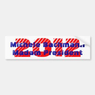 Bumper Sticker Madam President Michele Bachmann Car Bumper Sticker