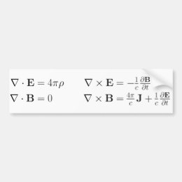 Bumper sticker, Maxwell's equations Bumper Sticker