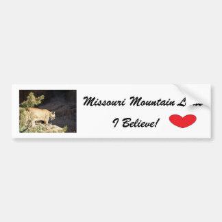 Bumper Sticker--Missouri Mountain Lions